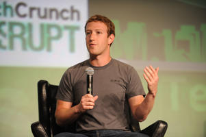 SAN FRANCISCO, CA - SEPTEMBER 11:  Facebook Founder and CEO Mark Zuckerberg speaks during the TechCrunch Conference at SF Design Center on September 11, 2012 in San Francisco, California.  (Photo by C Flanigan/WireImage)
