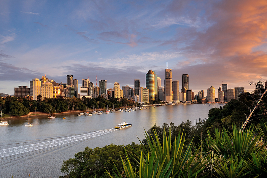 a view of a city next to a body of water: North of Sydney, Melbourne, and other major Australian cities, Brisbane offers plenty of opportunities to explore the outdoors.
