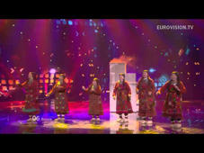 a group of people on a stage: Powered by http://www.eurovision.tv/ Russia: Buranovskiye Babushki - Party For Everybody live at the Grand Final of the 2012 Eurovision Song Contest