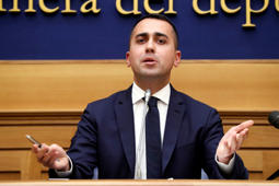 The Vice Premier Luigi Di Maio during the joint press conference with and the Justice Minister Alfonso Bonafede in the Press Room of the Chamber of Deputies. Rome (Italy), May 7th, 2019 (Photo by Massimo Di Vita/Archivio Massimo Di Vita/Mondadori Portfolio via Getty Images)
