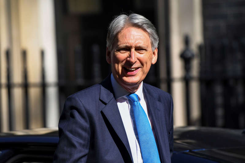 Chancellor Philip Hammond arrives at 10 Downing Street, London on May 15, 2019. Mrs May has announced that she will bring her deal to Parliament for a fourth vote, on the week of 3 June. (Photo by Alberto Pezzali/NurPhoto via Getty Images)