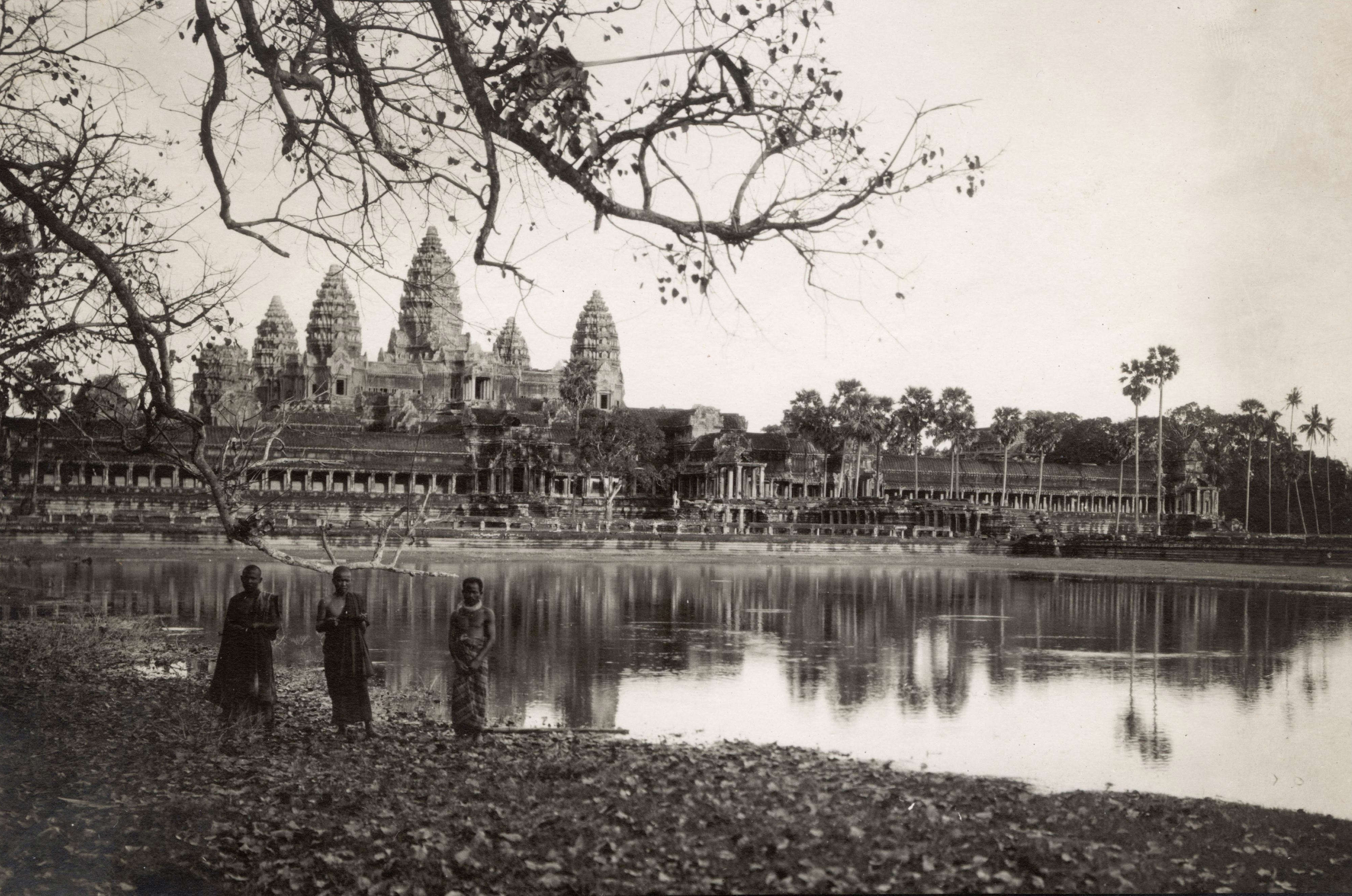 Slide 38 of 55: View of the Angkor temple (Cambodia). Ca. 1910. (Photo by adoc-photos/Corbis via Getty Images)
