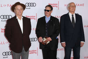 Bill Murray, Dan Aykroyd and  Chevy Chase attends the Television Academy's 24th Hall Of Fame Ceremony at Saban Media Center on November 15, 2017 in North Hollywood, California.  (Photo by Leon Bennett/WireImage)