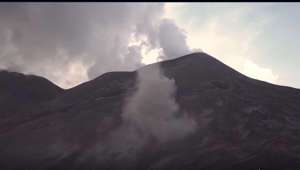 Funnel Clouds Swirl on Italy's Mount Etna