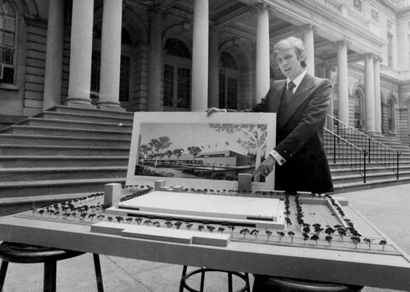 Slide 3 of 32: UNITED STATES - MAY 25: Donald Trump, at City Hall announces 34th Street Convention Center (Photo by Frank Russo/NY Daily News Archive via Getty Images)