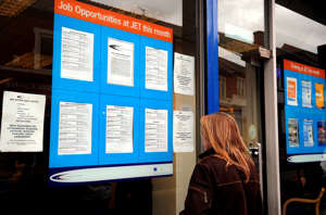 A person outside a Jobs Education and Training Centre on Normanton Road, Derby.   (Photo by Rui Vieira/PA Images via Getty Images)