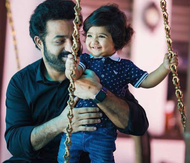 Jr NTR introduces younger son Bhargav on first birthday  See pics