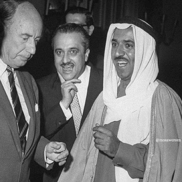 Slide 3 of 24: He is the fourth son of the Emir of Kuwait, Ahmad Al-Jaber Al-Sabah, who ruled Kuwait between the years 1921-1950