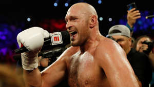 Boxing - Tyson Fury v Tom Schwarz - Heavyweight Fight - MGM Grand Arena, Las Vegas, United States - June 15, 2019       Tyson Fury celebrates winning the fight  REUTERS/Mike Segar