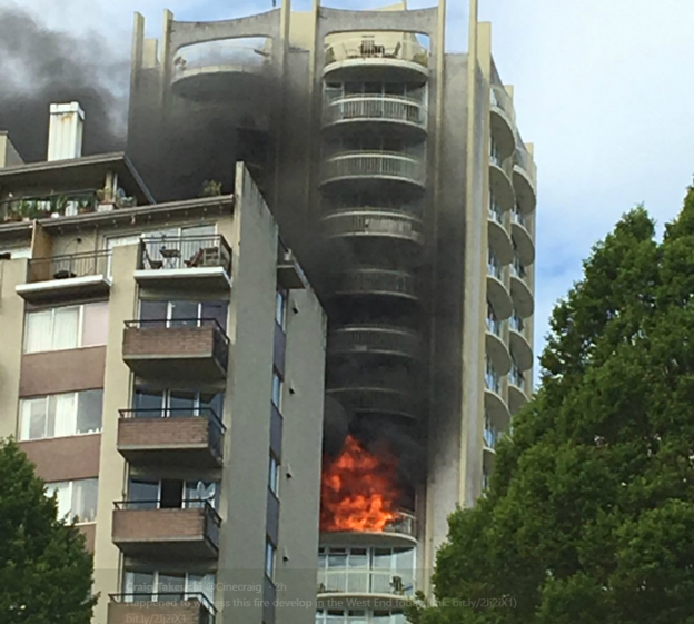 Vancouver fire department contains West End apartment fire