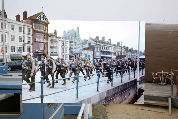 Normandy landings remembered: D-Day photos blended with the