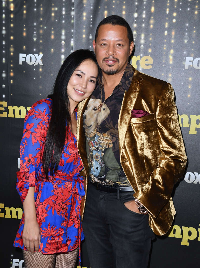 Terrence Howard and Mira Pak attend the Empire Season 5 premiere in New York on September 24, 2018. (Photo by Angela Weiss / AFP)        (Photo credit should read ANGELA WEISS/AFP/Getty Images)