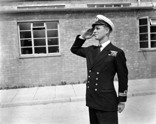 Slide 4 of 37: 31st July 1947: Lieutenant Philip Mountbatten, husband of Princess Elizabeth resumes his attendance at the Royal Naval Officers' School at Kingsmoor in Hawthorn, Wiltshire. (Photo by PNA Rota/Getty Images)