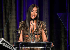 Naomi Campbell speaks onstage at the American Icon Awards at the Beverly Wilshire Four Seasons Hotel on May 19, 2019 in Beverly Hills, California. (Photo by Kevin Winter/Getty Images)