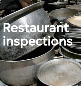 a pot with food in it: Restaurant inspections