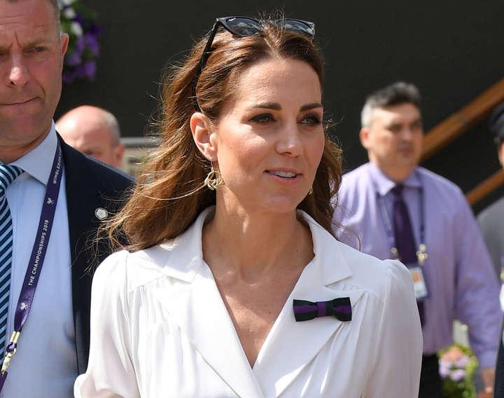 A royal ace! Duchess of Cambridge channels Wimbledon whites