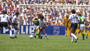 Argentina's Diego Maradona in action.