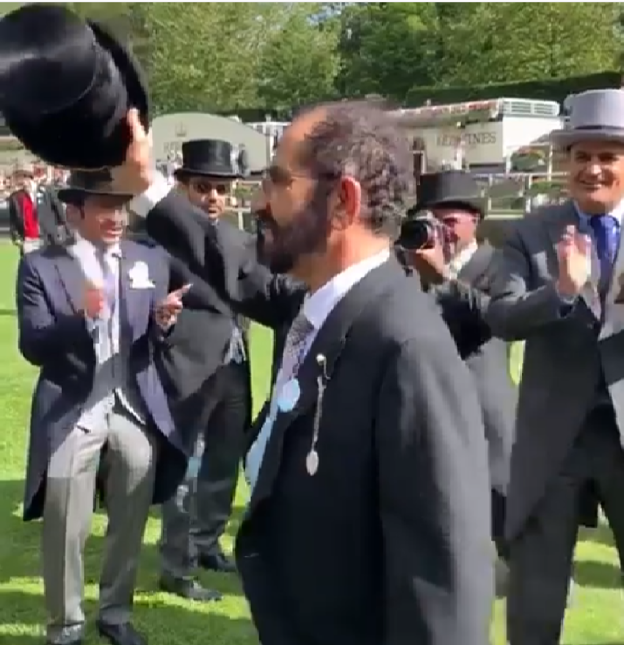 Video: Sheikh Mohammed's celebratory dance at Royal Ascot