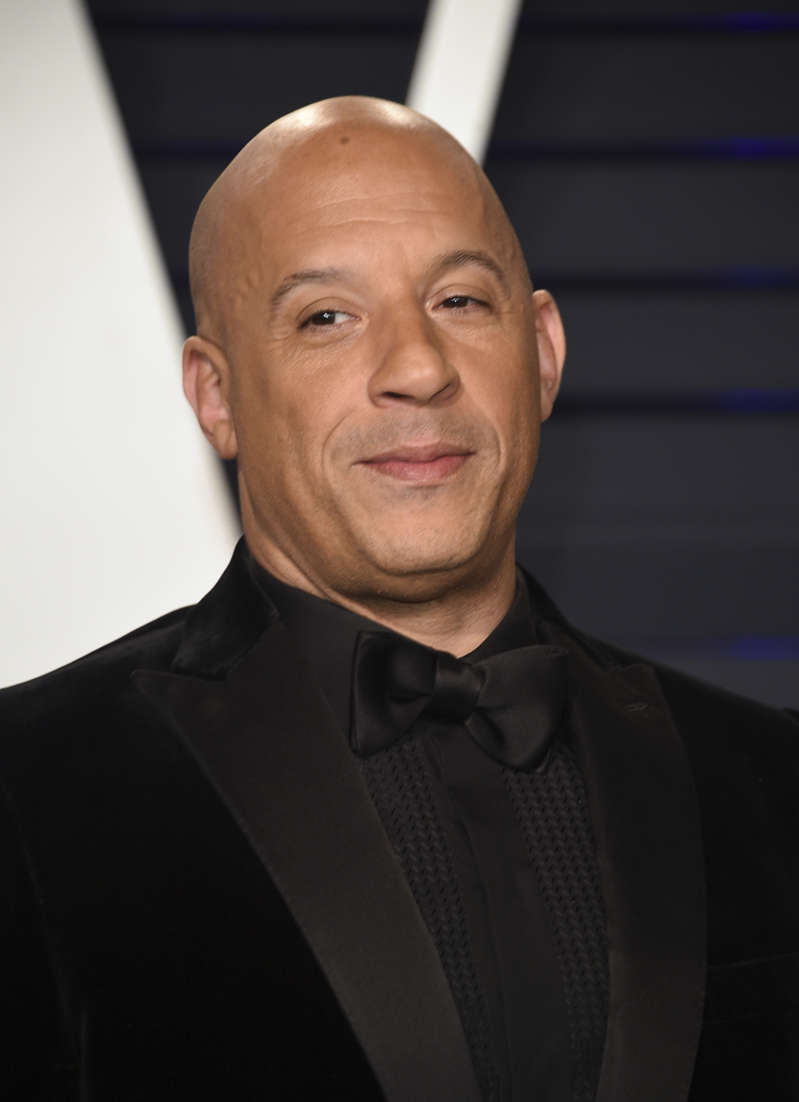 Vin Diesel arrives at the Vanity Fair Oscar Party on Sunday, Feb. 24, 2019, in Beverly Hills, Calif. (Photo by Evan Agostini/Invision/AP)