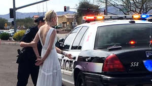 Drunk bride busted on way to wedding