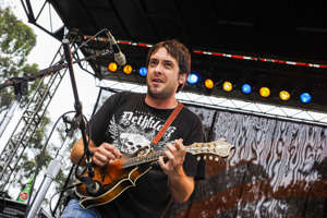 Jeff Austin of Yonder Mountain String Band performs