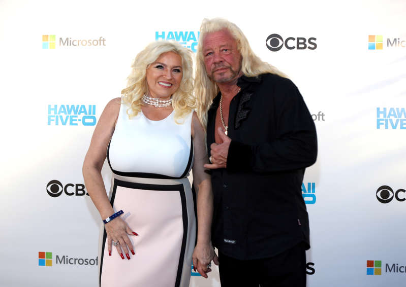 Beth Chapman and Duane Chapman attend the Sunset on the Beach event celebrating season 8 of 'Hawaii Five-0' at Queen's Surf Beach on November 10, 2017 in Waikiki, Hawaii. (Photo by Darryl Oumi/Getty Images)