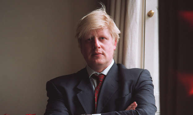 Slide 1 of 23: (Original Caption) The Telegraph journalist and editor of the New Statesman, Boris Johnson. (Photo by Neville Elder/Corbis via Getty Images)