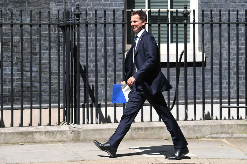 Health Secretary Jeremy Hunt in Downing Street, London. (Photo by Stefan Rousseau/PA Images via Getty Images)