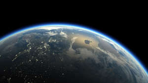 Earth on black background , copy space , 3d render , Elements of this image furnished by NASA
