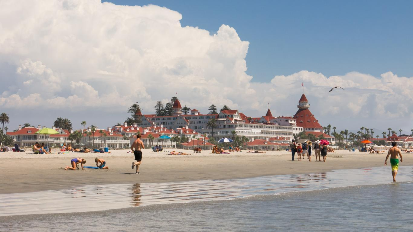 Slide 7 of 11: America's Finest City is also a trendy summer vacation destination this year. San Diego's Coronado Beach is one of the world's best for families and was recently named to Dr. Beach's list of the 10 best beaches in America for 2020.