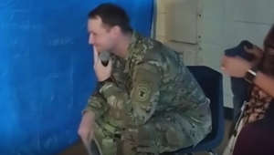 Soldier tears up reading wife's pregnancy announcement