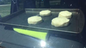It's so hot National Weather Service baked biscuits in a parked car