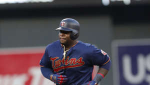 Minnesota Twins' Miguel Sano homers against the Oakland Athletics in a baseball game Saturday, July 20, 2019, in Minneapolis. (AP Photo/Jim Mone)