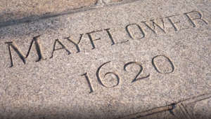The historic Mayflower steps might be under a women's bathroom in the U.K.