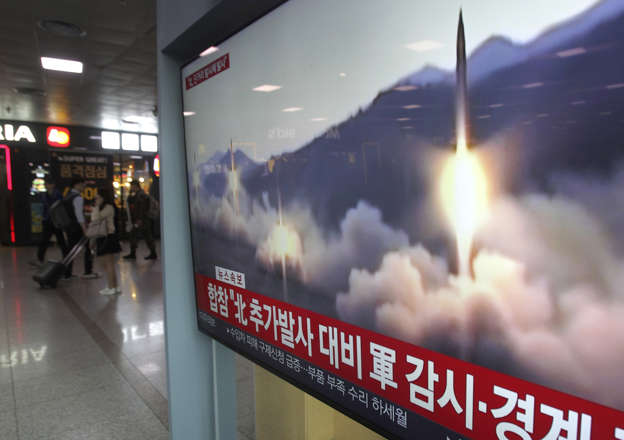 N Korea fired unidentified projectile from around Wonsan -S Korea