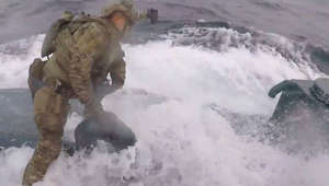 Watch: Dramatic jump by Guardsmen onto vessel laden with cocaine