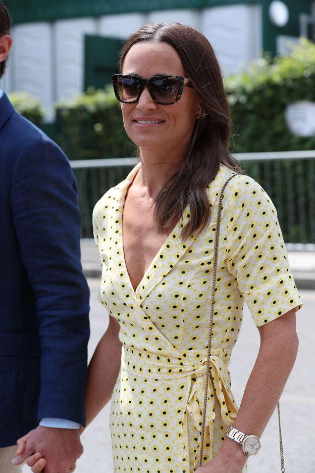 Pippa Middleton stuns in €179 Ganni dress at Wimbledon with husband