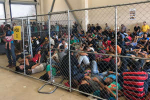 MCALLEN, TX - JUNE 10:  In this handout photo provided by the Office of Inspector General, overcrowding of families is observed by OIG at U.S. Border Patrol McAllen Station on June 10, 2019 in McAllen, Texas. (Photo by Office of Inspector General/Department of Homeland Security via Getty Images)