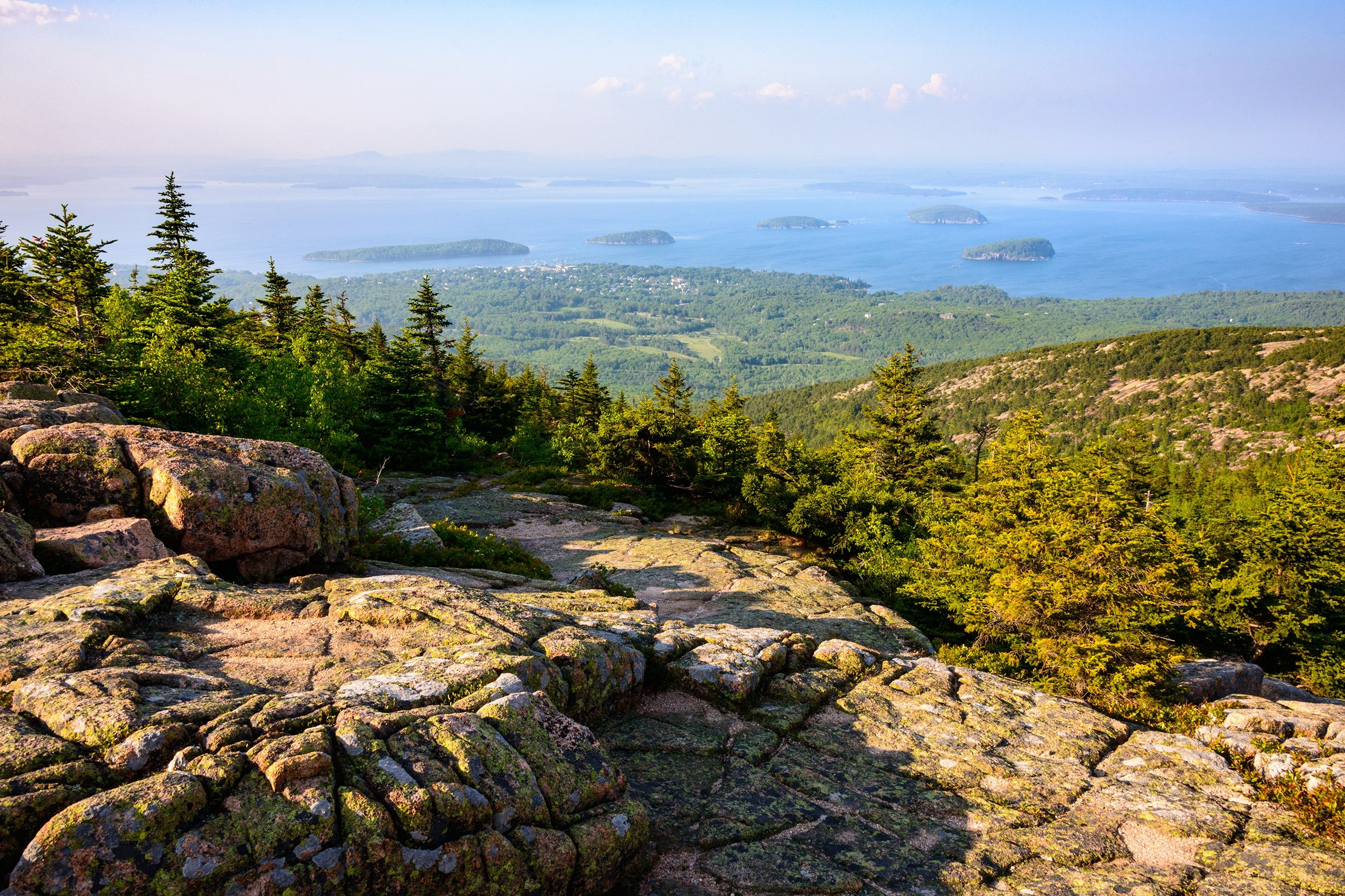 Slide 20 of 52:  Where: Acadia National Park Distance: 1.4-mile loop Must see: The birds are what you can't miss here. Be on the lookout for puffins and black-throated green warblers.
