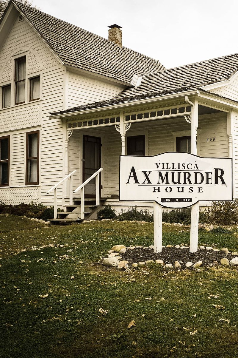 Slide 26 of 26: See just how brave you are by booking an overnight stay at the Villisca Axe Murder House in Villisca, Iowa. The home, which was the site of eight murders back in 1912, has become known for its strange sightings and creepy noises.  PLAN YOUR TRIP