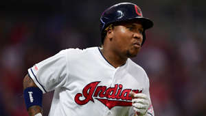 Cleveland Indians' Jose Ramirez runs after hitting a two-run home run off Detroit Tigers starting pitcher Matthew Boyd in the sixth inning of a baseball game, Thursday, July 18, 2019, in Cleveland. The Indians won 6-3. (AP Photo/David Dermer)