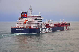 Undated handout photo issued by Stena Bulk of the British oil tanker Stena Impero which is believed to have been captured in Iranian waters whilst en route to Saudi Arabia. Owner Stena Bulk has confirmed that at approximately 1600 BST the tanker was approached by unidentified small crafts and a helicopter whilst in international waters in the Strait of Hormuz and they are unable to contact the vessel which is now heading north towards Iran.