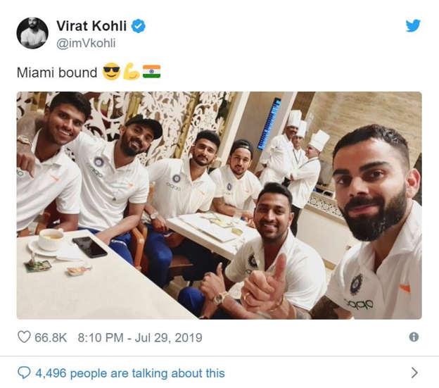 Virat Kohli, Team India depart for month-long West Indies tour