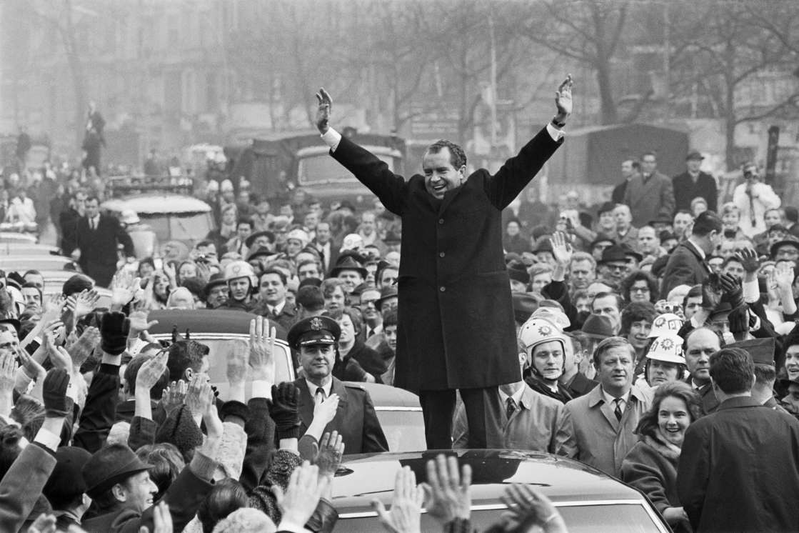 Visit of American President Richard Nixon to Berlin. (Photo by James Andanson/Sygma via Getty Images)