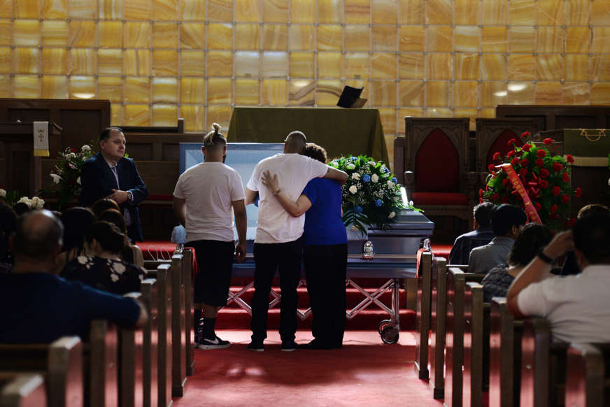 Slide 11 of 59: Friends and family gather for the visitation of Juan Velazquez five days after a mass shooting at a Walmart store in El Paso, Texas, U.S. August 8, 2019. REUTERS/Callaghan O'Hare