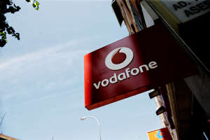 MADRID, SPAIN - JULY 26: Vodafone logo in a store on July 26, 2019 in Madrid, Spain. (Photo by Eduardo Parra/Europa Press via Getty Images) (Photo by Europa Press News/Europa Press via Getty Images )