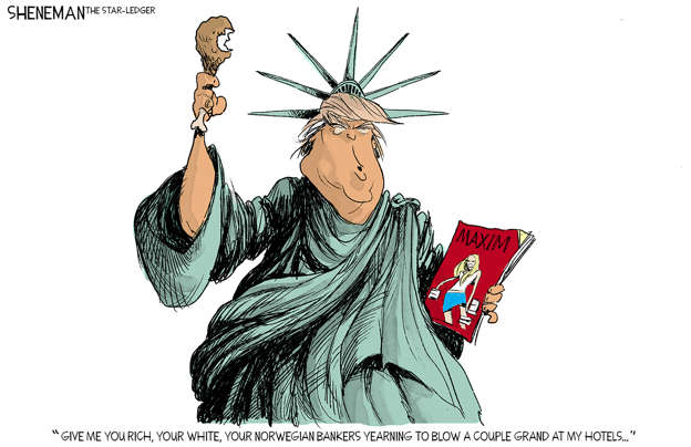 Slide 2 of 50: Drew Sheneman/The Star-Ledger