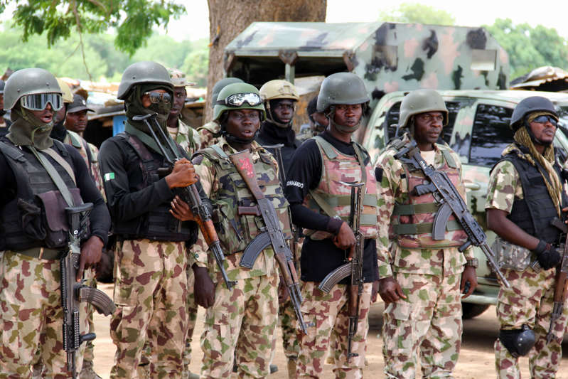 File picture of Nigerian soldiers.