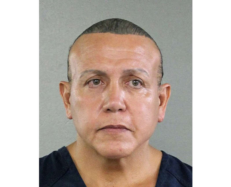 FILE - This Aug. 30, 2015, file photo released by the Broward County Sheriff's Office shows Cesar Sayoc in Miami. Sayoc, who created a two-week crisis by mailing 16 packages of inoperative pipe bombs packed with fireworks powder and shards of glass to 13 famous Democrats and CNN is scheduled to learn his punishment Monday, Aug. 5, 2019. (Broward County Sheriff's Office via AP, File)