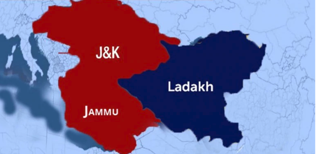 Jammu Kashmir, and Ladakh: This is how the redrawn map will ...